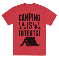 Camping Is Intents! (Green) Tee