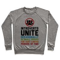 eadaa0b36 Introverts Unite! Racerback Tank | LookHUMAN