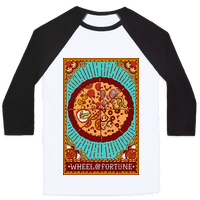Pizza Wheel of Fortune Tarot Card