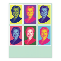Pop Art Hillary Clinton