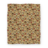 Coffee Pixel Art Pattern