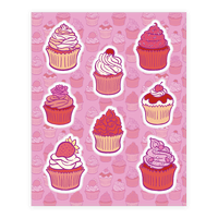 Pretty Pretty Cupcakes Sticker
