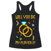 Will You Be My Player 2 Racerback