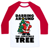 Dabbing Around the Christmas Tree Baseball