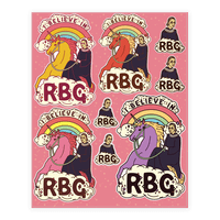 Ruth Bader Ginsburg on a Unicorn Sticker