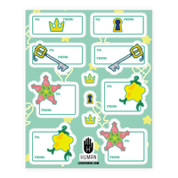 Destiny Island Gift Tags Sticker
