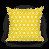 Yellow Criss Cross Pattern