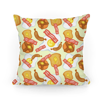Breakfast Food Pattern Pillow