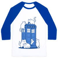Catipose and the Tardis Baseball