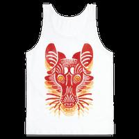 Symmetrical Gilded Fox