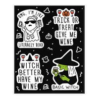 Basic Halloween Sticker Sheet Sticker
