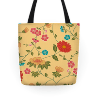 Pretty Floral Pattern Tote