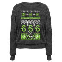 Hogwarts Ugly Christmas Sweater: Slytherin