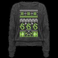 Hogwarts Ugly Christmas Sweater: Slytherin