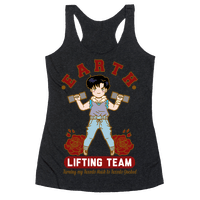 Earth Lifting Team Parody Racerback