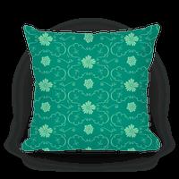 Green Floral Wallpaper Pattern