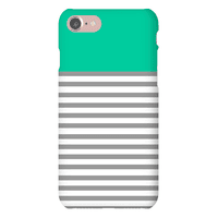 Green Color Block Stripe Pattern