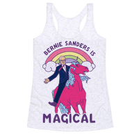 Bernie Sanders on a Magical Unicorn Racerback