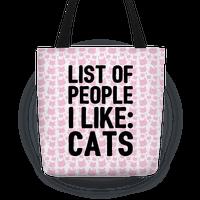 List Of People I Like: Cats