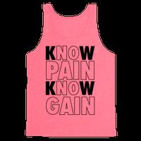 Know Pain Know Gain (Neon Tank)