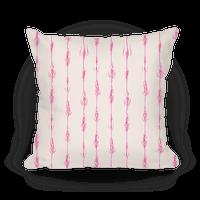 Feathery Vagina Pattern Pillow