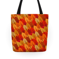 Geometric Fall Leaf Pattern
