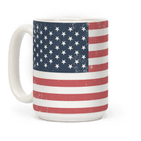 Distressed American Flag Mug