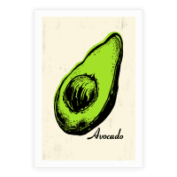 Pop Art Avocado
