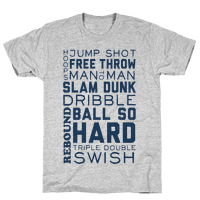 Basketball Typographic (Blue)