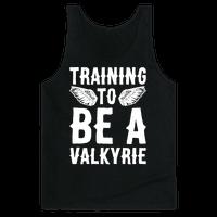 Training To Be A Valkyrie Parody White Print