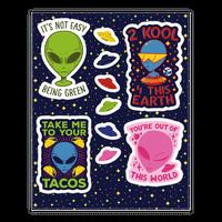 Cool Alien Sticker