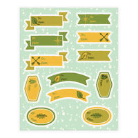 Wanderlust Nature Gift Tags Sticker