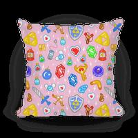 Zelda Items Pillow