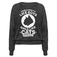 Girls Don't Like Boys Girls Like Cats And Money