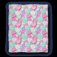 Sherlock Valentines Hearts Blanket