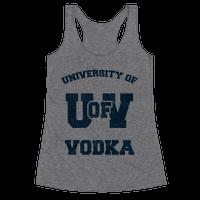University Of Vodka Racerback