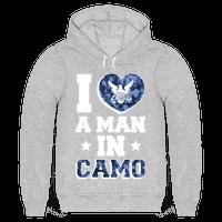 I Love a Man in Camo (navy)