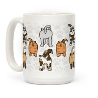 Cat Butt Pattern Mug