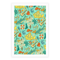 Life Aquatic Nautical Pattern