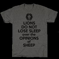 Lions Do Not Lose Sleep...