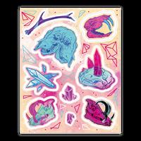 Skulls and Crystals Sticker