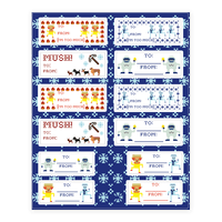 Christmas Gift Tags Sticker