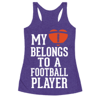 My Heart Belongs to a Football Player (White Ink)