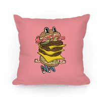 Triple Decker Burger Dude Pillow