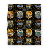 Hogwarts House Cats Blanket