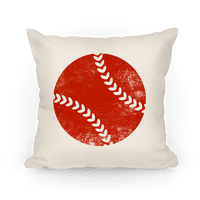 Red Baseball Pillow