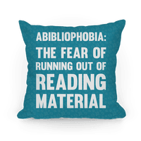 Abibliophobia: The Fear Of Running Out Of Reading Material