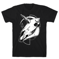Geometric Occult Unicorn Skull