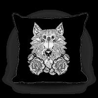 Seven Eyed Wolf Pillow