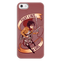 Mikasa: Fight Like a Girl Phonecase